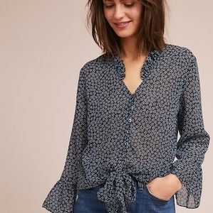 Anthropologie Matison Stone Claire Tie Front